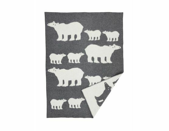 Klippan Polar Bear Eco Wool Blanket