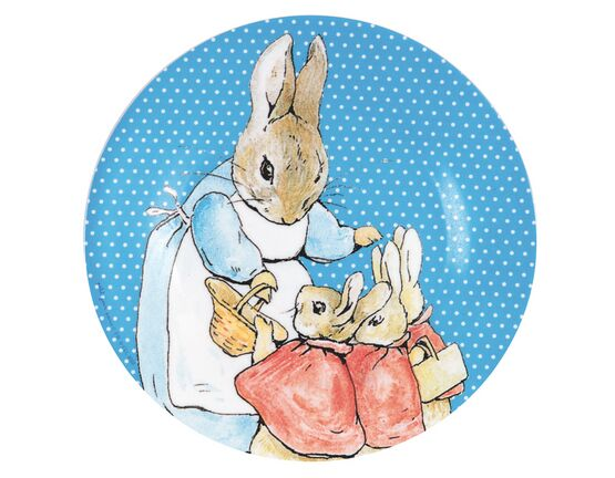Petit Jour Paris Peter Rabbit Side Plate - Mid-Blue