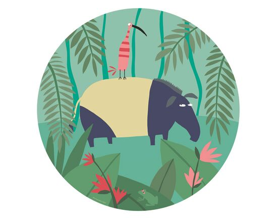 Petit Jour Paris Jungle Side Plate - Tapir