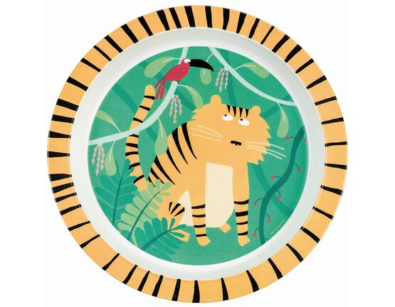 Petit Jour Paris Jungle Baby Plate - Tiger