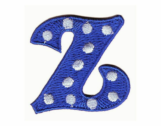 Jennie Maizels Alphabet Patch - Letter Z - Blue